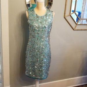 NEW $998 Elie Tahari Runway Sequined Dress Sz.6
